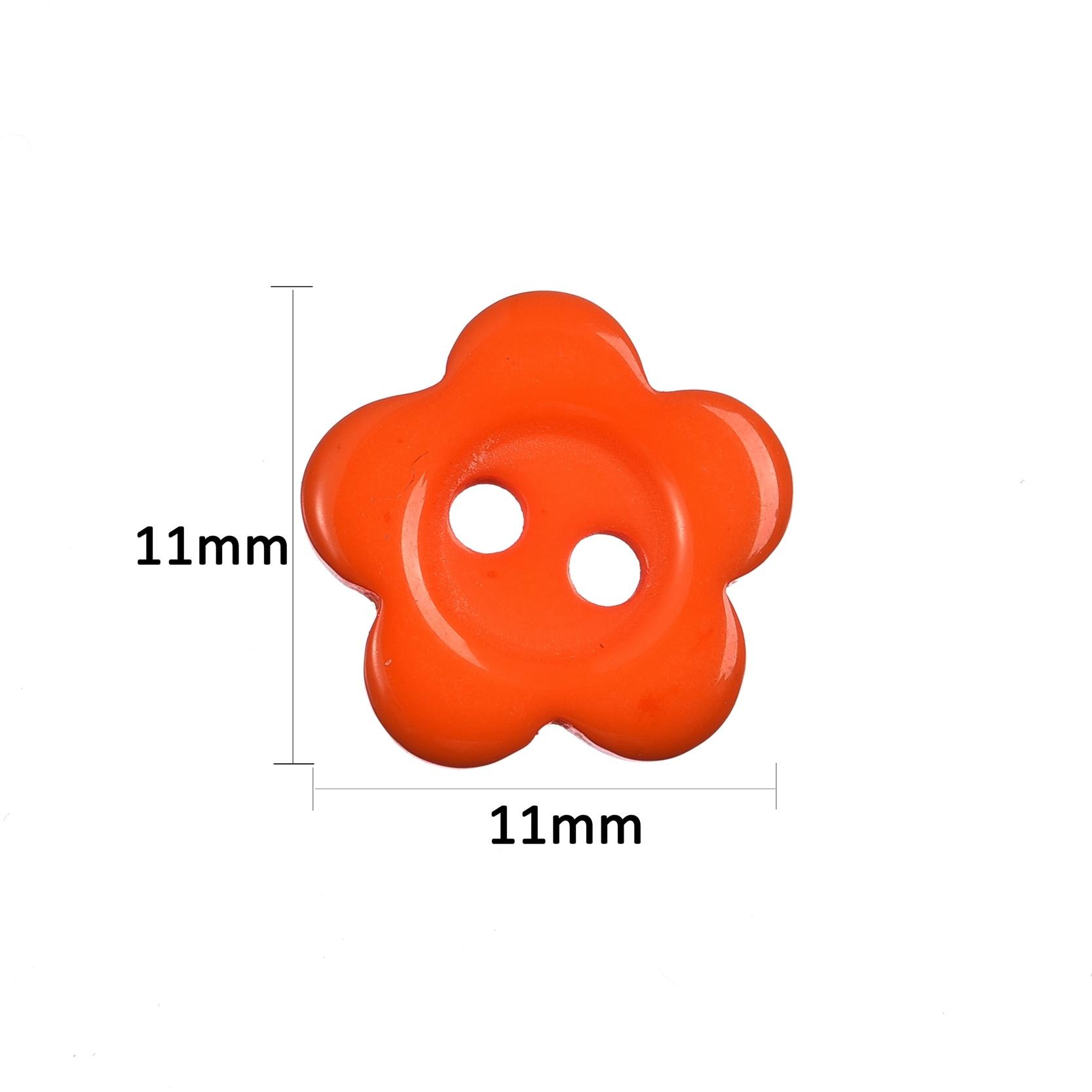300 шт./лот 11x11 мм 2 отверстия смешанный резиновый цветок Вышивание кнопки аксессуары для Скрапбукинга Knopf Одежда DIY украшения дома