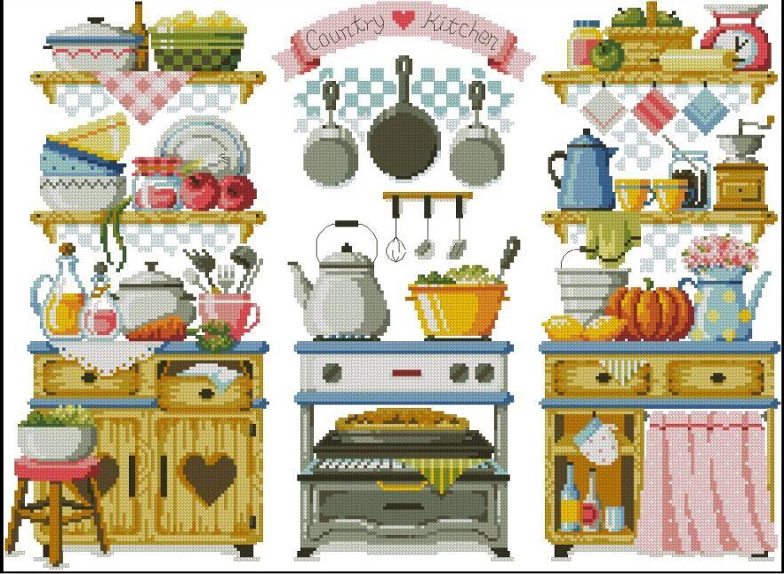 Вышивка кухонной утвари