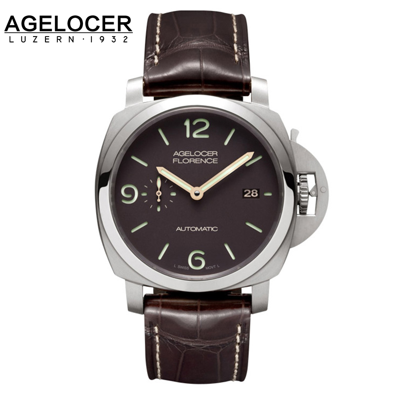 2016 Swiss AGELOCER famous brand quality mechanical watch military timepiece male watch sports gift for men Relogios Masculino watch swiss military часы элитные