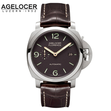 2016 Swiss AGELOCER famous brand quality mechanical watch military timepiece male watch sports gift for men