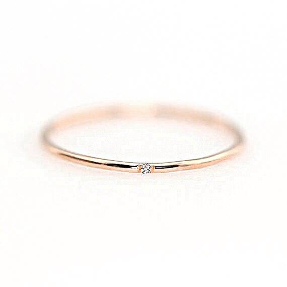 ZHOUYANG кольца для женщин с микро-вставками из кубического циркония тонкое кольцо на палец модное Ювелирное кольцо KCR101 - Цвет основного камня: RoseGold Color 103