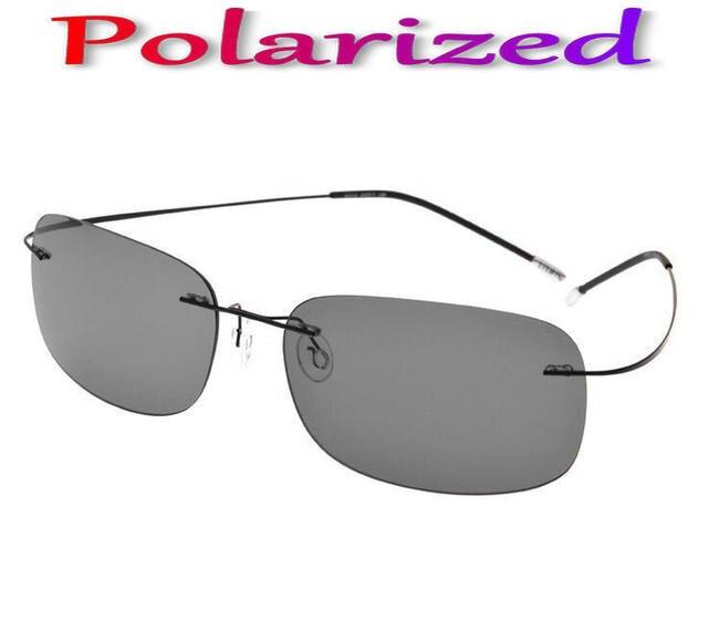 2016 New arrival Ultra-light Rimless Sunglasses Titanium Sunglasses Classic Large Gradient Sunglassespolarized