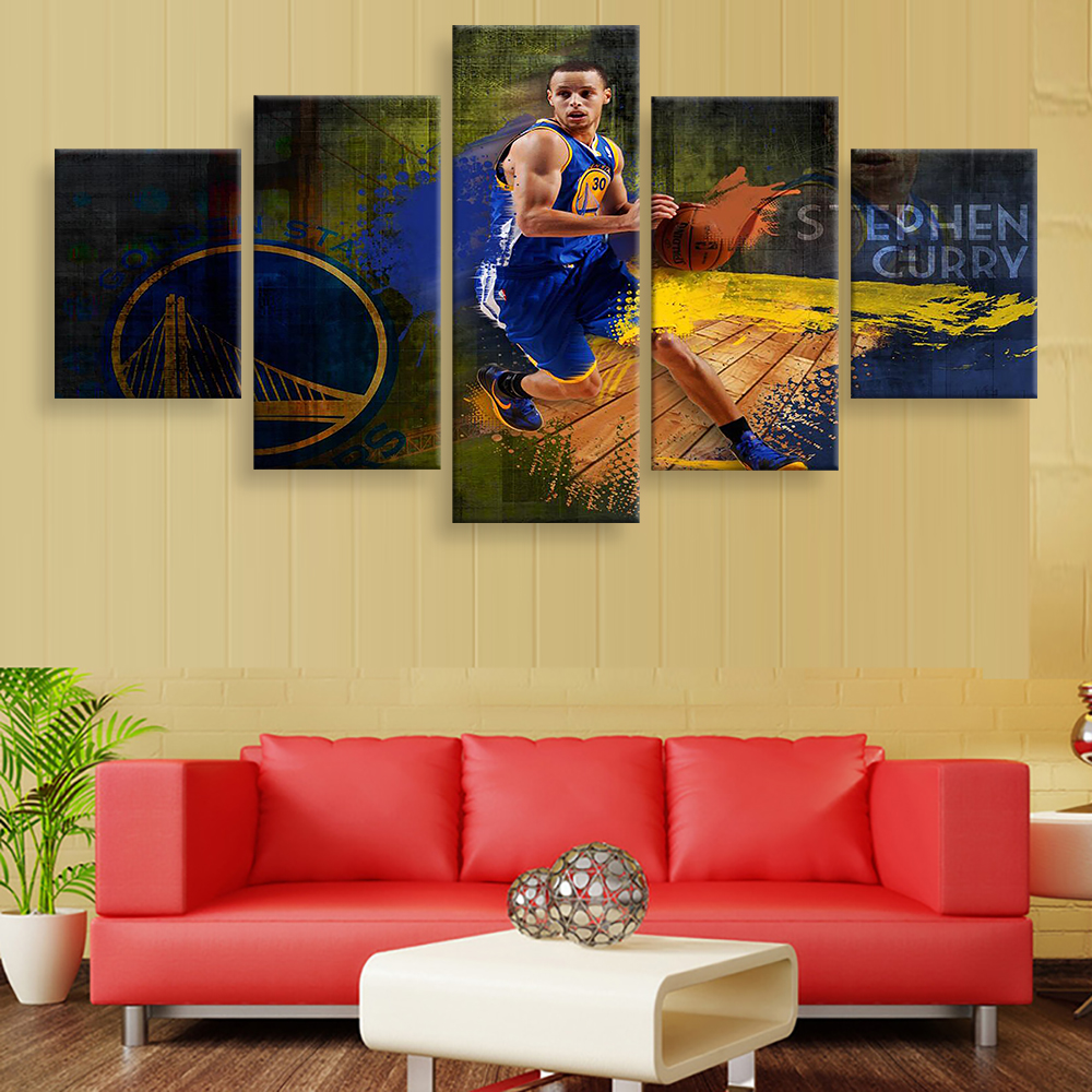 5 Panels Modular Pictures Home Decor Canvas HD Printed Photo NBA ...