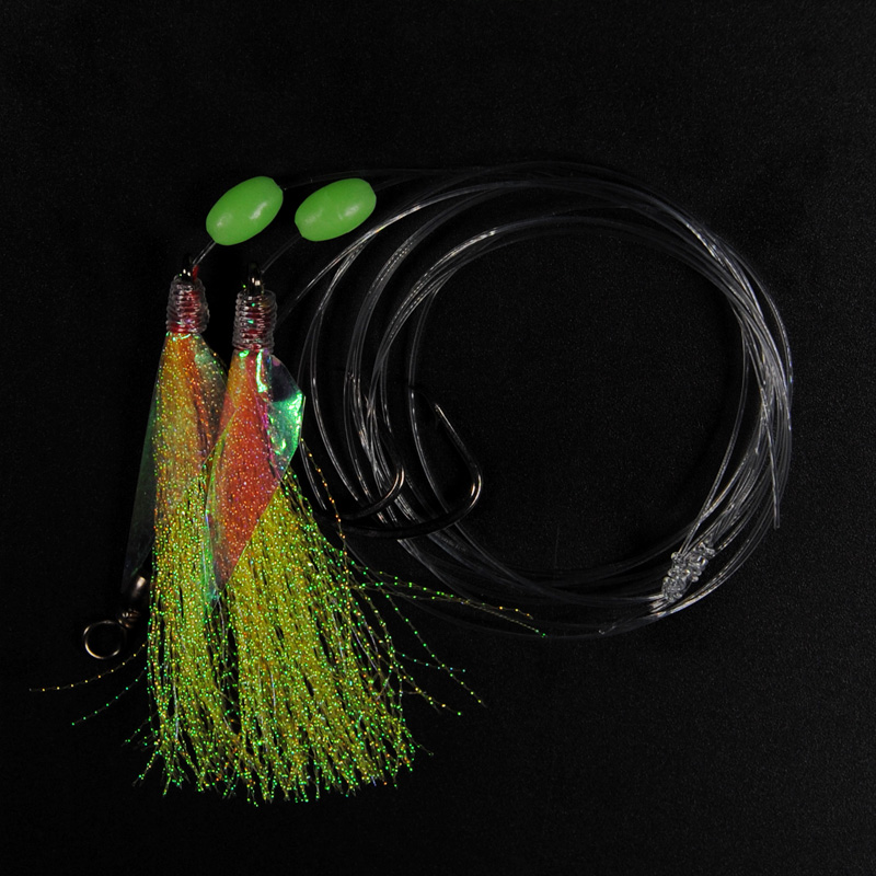 10Bags Shining Fish Skin Bait Sabiki Rigs with Hooks Sea Fishing Pink Yellow Green Flasher Bait Rigs With Barrel Swivel Herring 10 packs 60pcs 10 20 freshwater saltwater sabiki rigs sea fishing sabiki fish skin baits rigs fishing lures