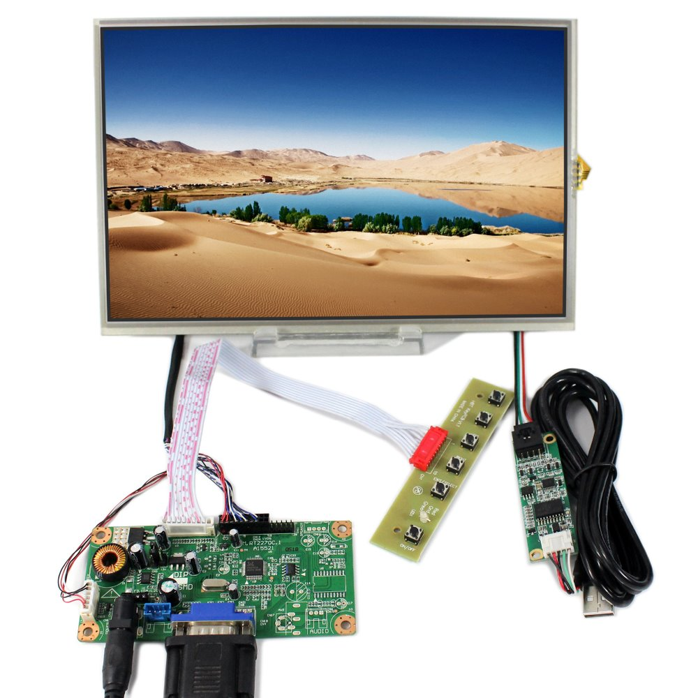 VGA LCD Controller Board RT2270C+10.1 B101EW05 LP101WX1 1280X800 LCD With Touch Screen
