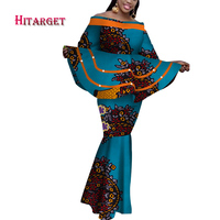Hitarget african dresses for women dashiki african clothing african tops+skirt 2 pieces suit Stitching top fishtail skirt WY3702