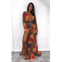 2017 Sexy Beach Cover Up Crochet Swimwear Dress Ladies Bathing Suit Leopard Prints Cover Ups Beach