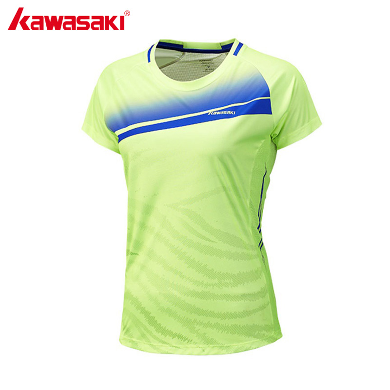 KAWASAKI Brand Badminton Shirts for Women Professional Tennis T-Shirts Female Sports Training Clothes Sportswear ST-172024