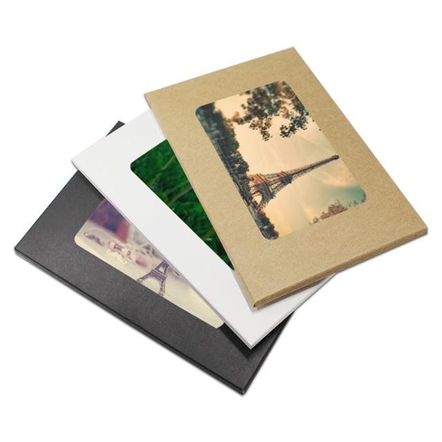 300pcs wholesale blank kraft paper postcard box photo greeting card 300pcs wholesale blank kraft paper postcard box photo greeting card packaging display storage holder with window m4hsunfo