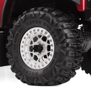 """Image 5 - INJORA 4PCS 2.2 """"Schlamm Grappler Gummi Reifen 2,2 Rad Reifen 120*48MM für 1:10 RC Rock crawler Traxxas TRX4 TRX 6 Axial SCX10 90046"""