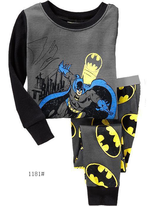 Otroški dečki Superhero Pižame Spalwear Otroška oblačila Obleke z dolgimi rokavi Dojenčki Obleka Otroci Pijame