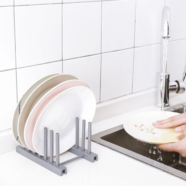 Kitchen Stainless Steel Plates Rack