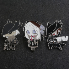 SG New Bloodborne & Dark Souls Hunters Ludwig Maria Blood Source Doll Figure Shirt Coat Brooches Pins Keyring Choker Jewelry
