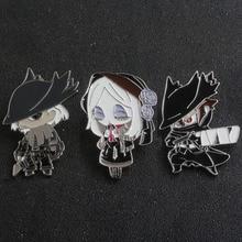 SG New Bloodborne & Dark Souls Hunters Ludwig Maria Blood Source Doll Figure Shirt Coat Brooches Pins Keyring Choker Jewelry