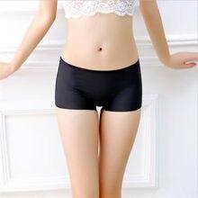 9018b90fa summer women ice silk safety boyshort seamless panties lingerie briefs sale  for women female girls lady