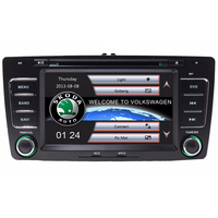 Capacitive Screen Two Din 7 Inch Car DVD Player For SKODA Octavia 2004 To 2013 3G