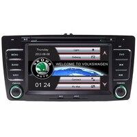 Hurtownie! 2 Din 7 Cal CANBUS Samochodowy Odtwarzacz DVD Dla SKODA Octavia Nawigacja GPS Bluetooth IPOD Radio RDS WIFI USB SD Darmowe Mapy