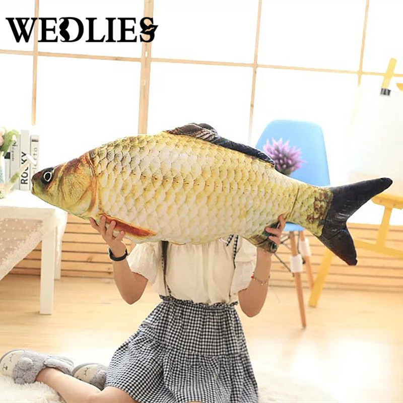 Fish Shape Cushion 20cm 40cm Small Throw Pillow With Inner Home Decor Sofa Emulational Toys For Bedroom Office No Zipper