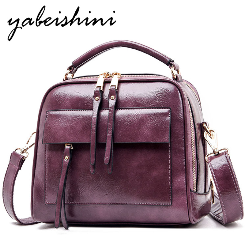 Fashion handbag leather Cowhide luxury brand shoulder bag large capacity solid color ladies handbag ladies shoulder bag designer in Shoulder Bags from Luggage Bags