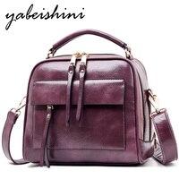 Fashion handbag leather Cowhide luxury brand shoulder bag large capacity solid color ladies handbag ladies shoulder bag designer