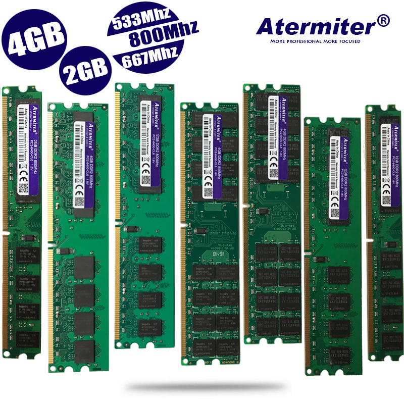 New 2GB 4GB 2G 4G DDR2 PC2-6400 Pc2 5300 4200 800MHz  667MHz 533MHz  For Desktop PC DIMM Memory RAM 240 Pins Compatible System