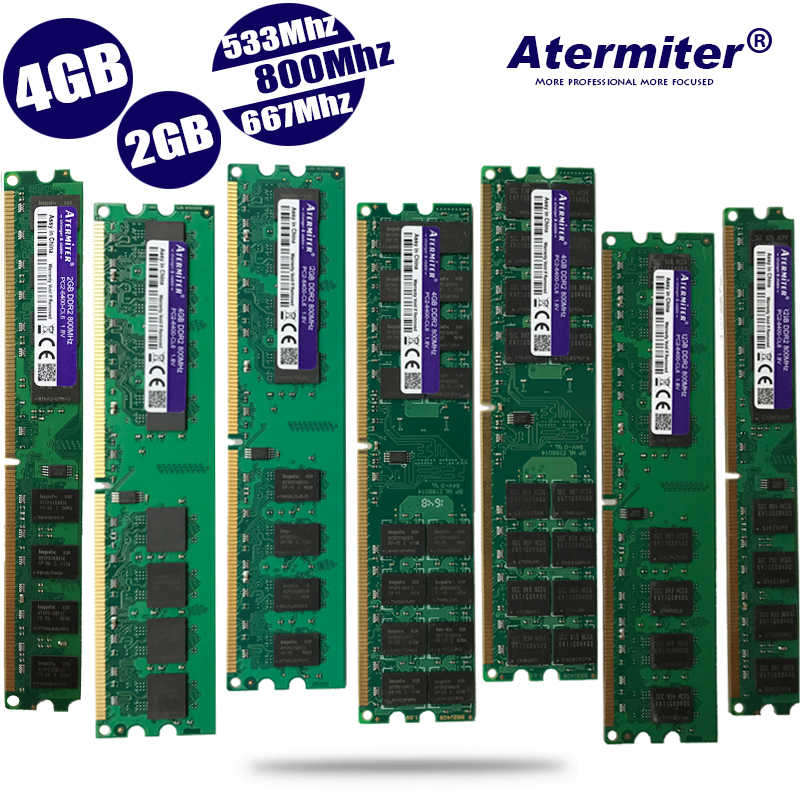 새로운 2 gb 4 gb 2g 4g ddr2 PC2-6400 pc2 5300 4200 800 mhz 667 mhz 533 mhz 데스크탑 pc dimm 메모리 ram 240 핀 호환 시스템