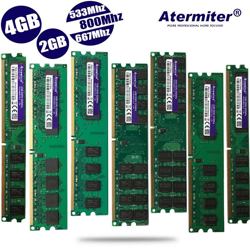 Модуль ОЗУ DDR2 для настольных ПК, 2 ГБ, 4 ГБ, PC2-6400, PC2-5300, 4200, 800 МГц, 667 МГц, 533 МГц, память DIMM для совместимых систем с 240 контактами