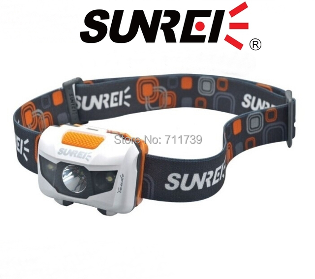 Sunree Youdo2 150lumens Waterproof Cree XPE R3 LED + 2 LED Lightweight sports tactical LED Headlamp Headlight