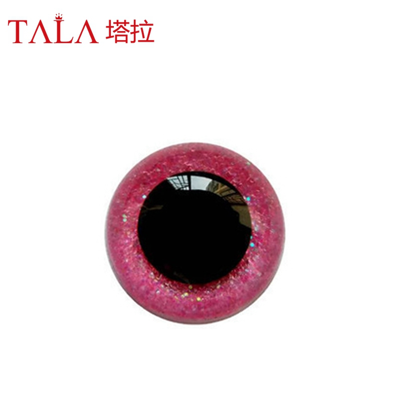 e1d92050a22 100pcs lot Unique Shining Safety Eyes Colorful Hand Paint Plastic Animal  Eyes 15mm 18mm