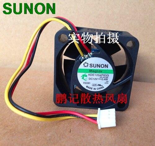 Original For Sunon KDE1204PKV3 4020 40X40X20 DC 12V 0.40W Server Inverter Cooling Fan