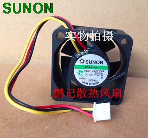 Original Sunon KDE1204PKV3 4020 40X40X20 DC 12V 0.40W server inverter cooling fan free shipping for sunon gb1207ptv2 a 13 b4396 f gn dc 12v 2 2w 3 wire 3 pin connector 70mm 70x70x25mm server square cooling fan