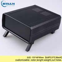 ABS diy project box plastic instrument case plastic enclosure junction box 170*140*60mm pcb circuit desktop wire connection box