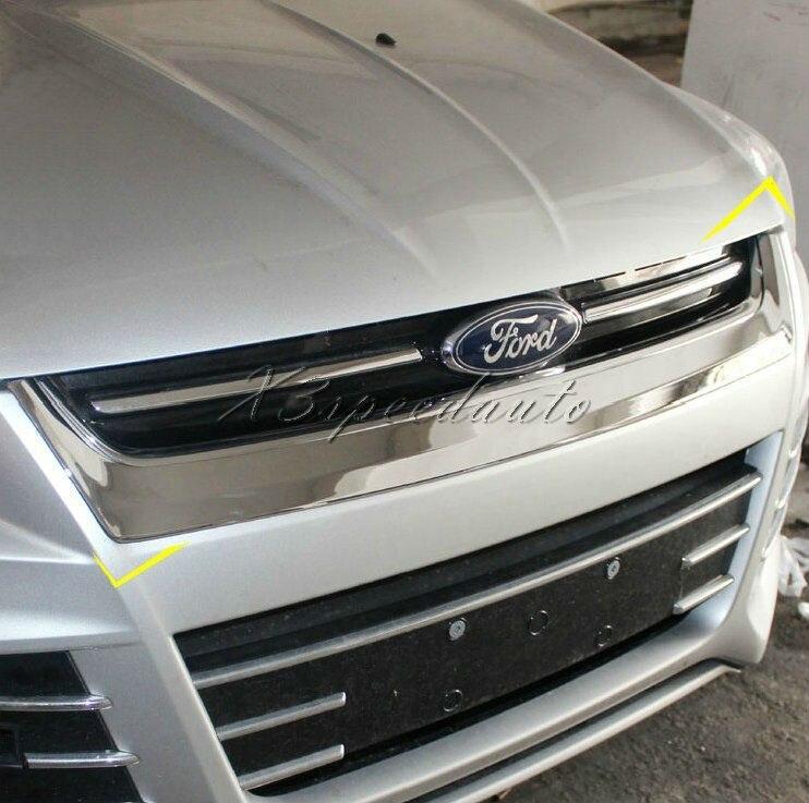 Revêtement d'habillage Griile en plastique chromé ABS pour Ford Escape Kuga 2013 +