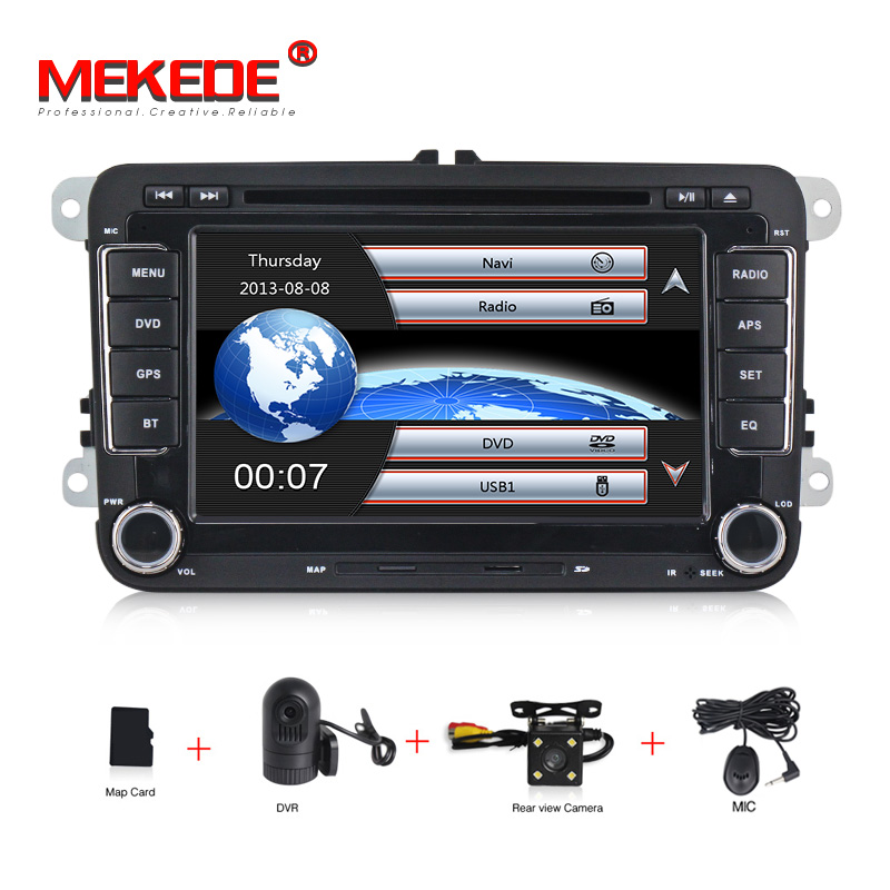MEKEDE HD 7 2 din Car DVD for VW golf 4 golf 5 6 touran passat B6 sharan jetta caddy transporter t5 polo tiguan with gps card