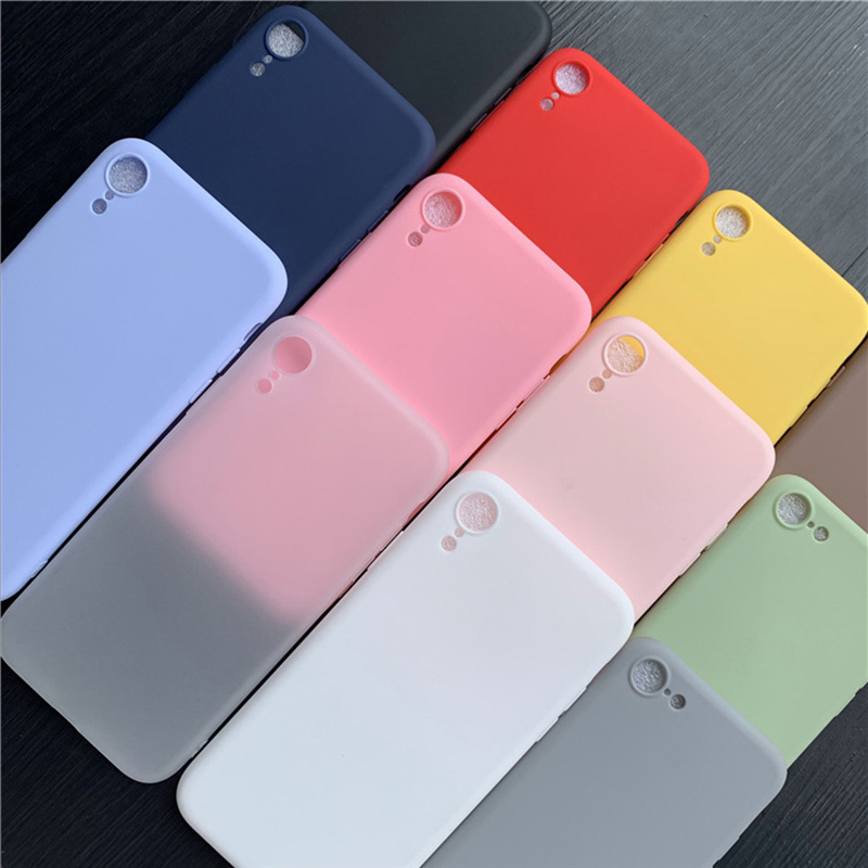 Candy Color Case For Motorola Moto G7 Plus Play Power Soft Silicone Full Back Phone Cases For Motog7