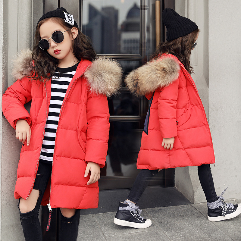 Girls Winter Coat Kids Thick Quilted Parka Clothing Children's Long Fashion Warm Princess Big Fur Collar Down Coats and Jackets weixu fashion girls winter coat kids outerwear parka down jackets hooded fur collar outdoor warm long coats children clothing