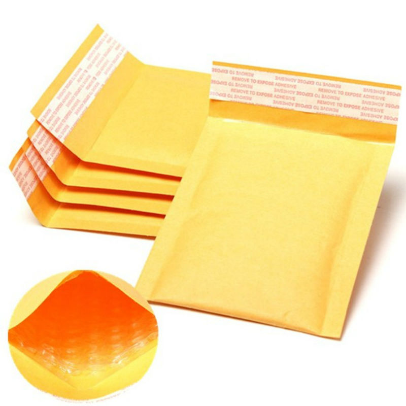 11*13cm 100Pcs/Lot Yellow Kraft Paper Bag Multiple Foam Bag Bubble Envelope Bag Filled Poly Mailer Padded Bulle Gift