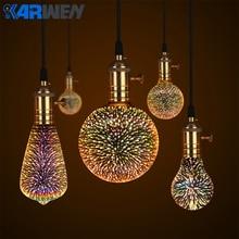 KARWEN Led Lamp 3D Fireworks Light Bulb Decorative Edison Bu