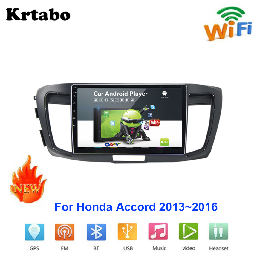 Car radio Android multimedia player For Honda Accord 2013~2016 Car touch screen GPS Navigation Support Carplay Bluetooth