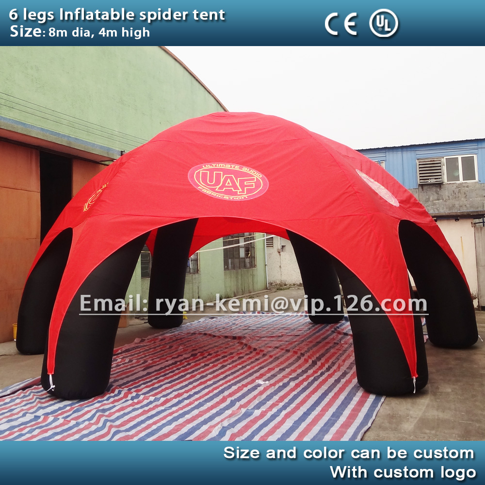 free shipping 8M inflatable spider tent 6 legs inflatable party advertising dome events tent