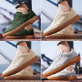 New Arrival Summer Men's Flock Shoes Korean Fashion Casual Men's Shoes Breathable Men Casual Shoes Leather Shoes Zapatos 39-44