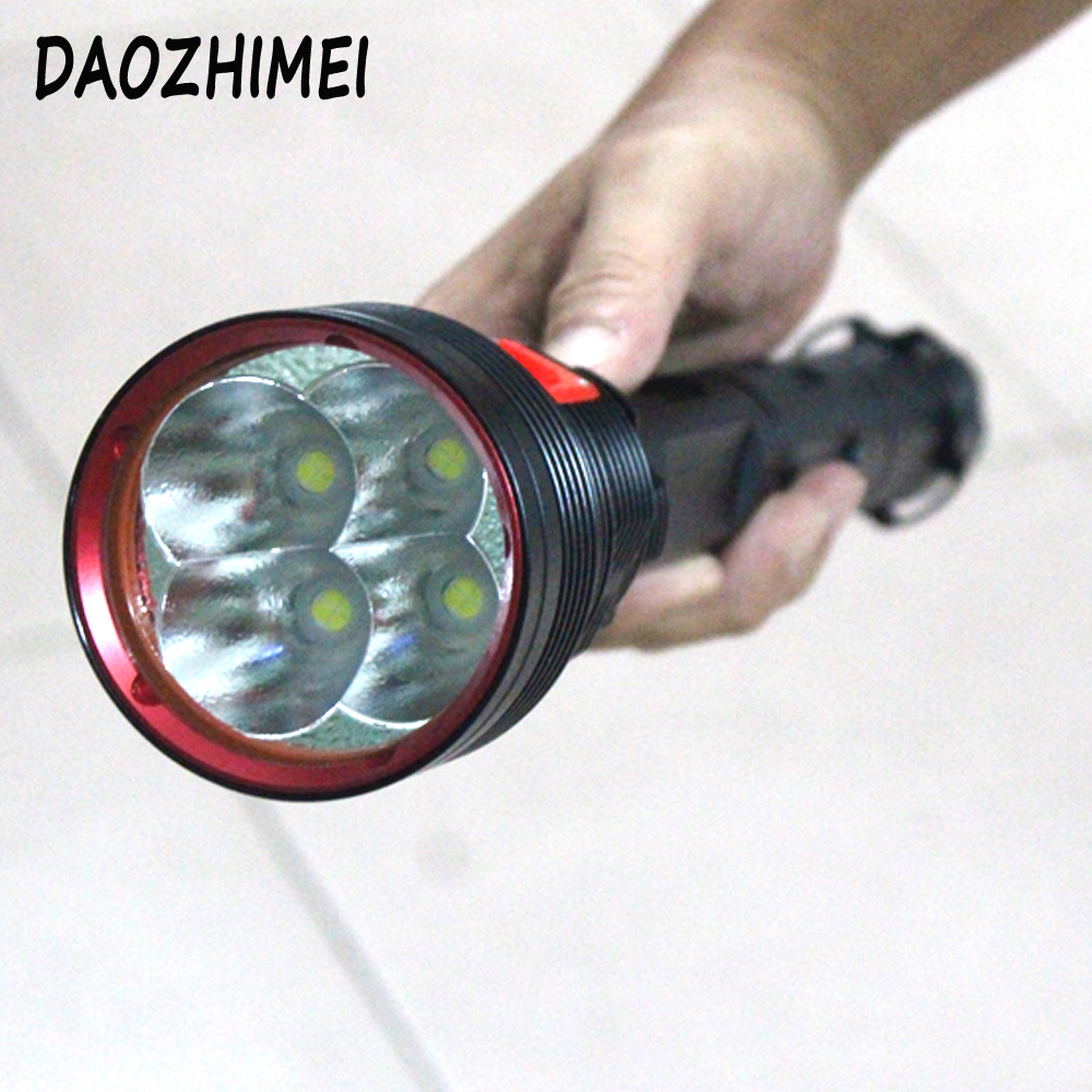 20000lm 4*XHP70 Led powerful tactical torch Diving flashlight Hunting lanterns Flashlight lighting +4x 26650 battery + Charger xhp70 diving flashlight white yellow waterproof powerful led torch 3000k 6000k use 26650 battery
