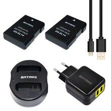 2x EN-EL14 ENEL14 EN EL14 Batteries &Dual USB Charger&EU/US AC Power Plug Adapter for Nikon D5200 D3100 3200 D5100 P7000 P7100