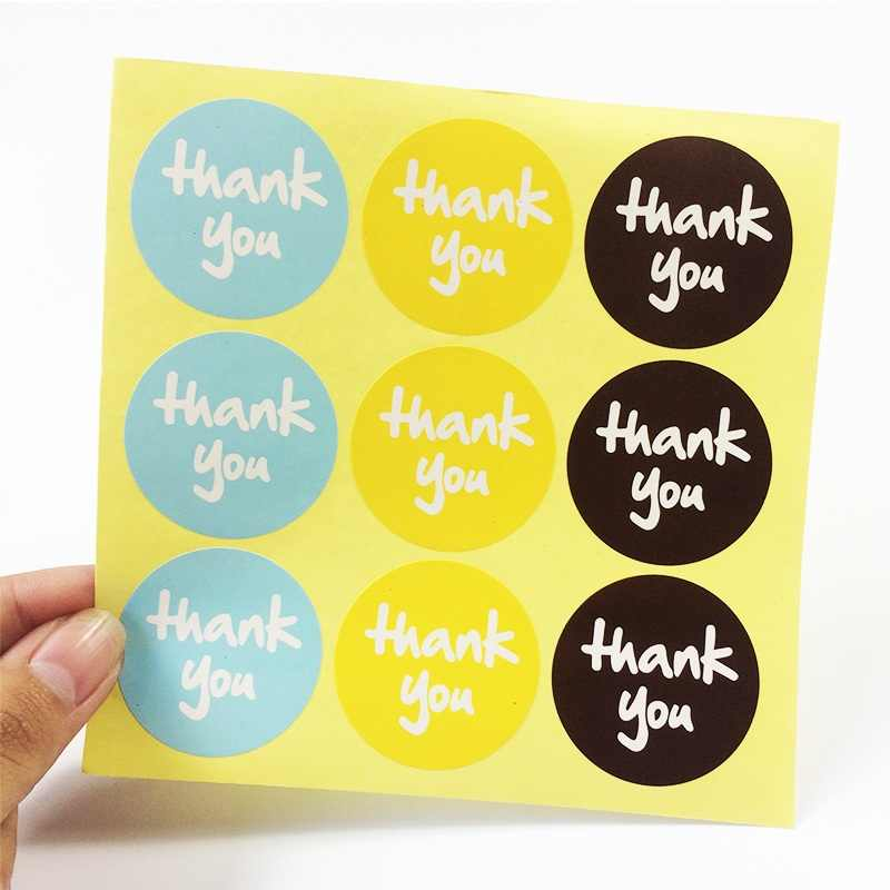 90 Pcs/lot 'thank you' Design Sticker Labels Food Seals Gift Stickers For Wedding Seals
