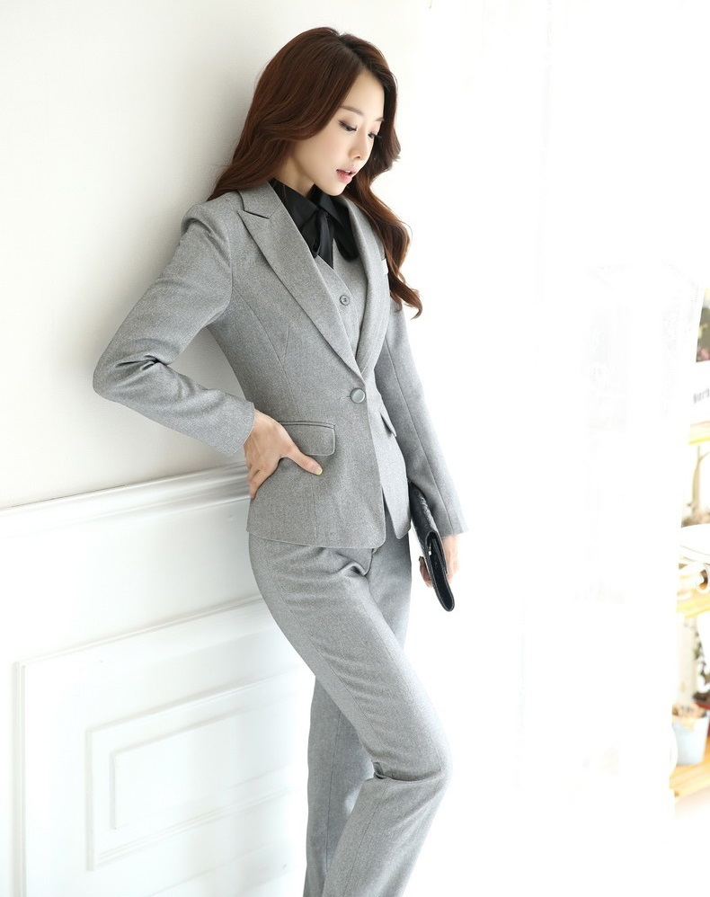 Aliexpress.com  Buy Autumn And Winter Formal Blazer Women Business Suits With Pant +Jacket ...