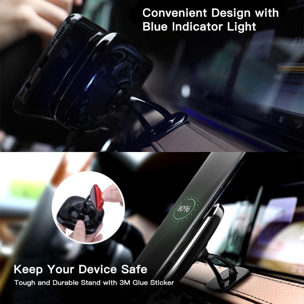 NILKIN Car Qi Ασύρματο φορτιστή Pad 360 βαθμός - Ανταλλακτικά και αξεσουάρ κινητών τηλεφώνων - Φωτογραφία 5