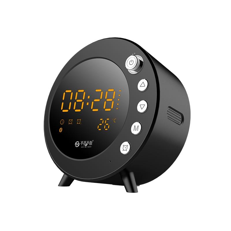 US $19 85 42% OFF|See Me Here S5 wireless alarm clock Bluetooth Speaker  Support SD Card Screen Display Sleep Loudspeaker With FM speakers-in  Portable