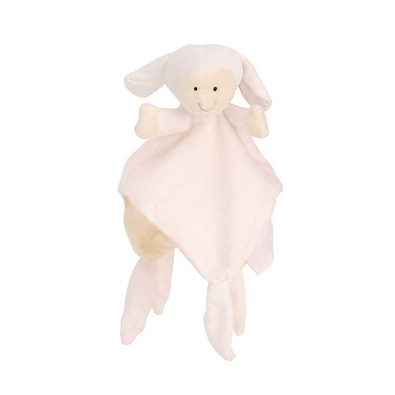 Juguetes suaves para bebé manta de toalla calmante manta de Animal durmiente toalla juguete educativo sonajero para el cochecito