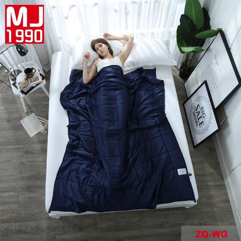 Alta calidad manta ponderada gravedad dormir descompresión edredón manta ponderada insomnio aire acondicionado