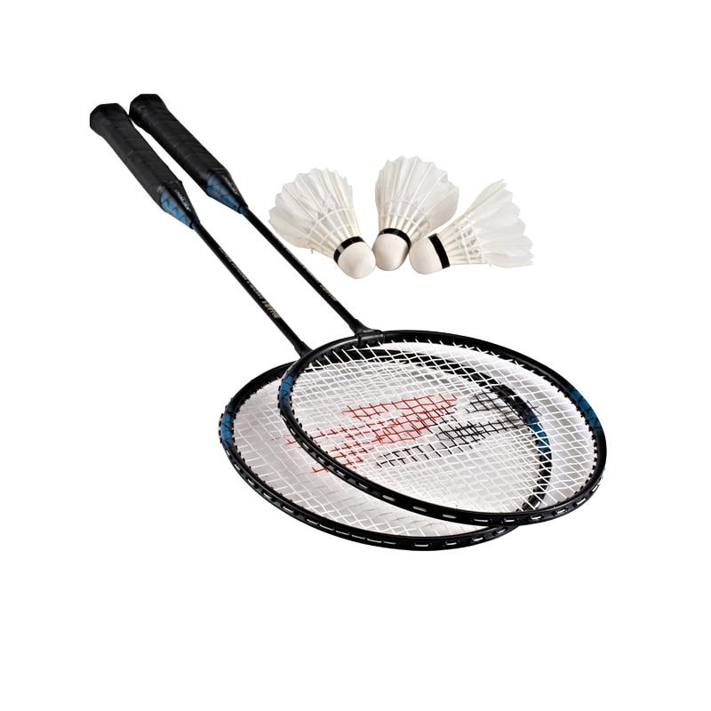 Aluminum Alloy badminton rackets T joint badminton racquet Traning racket new arrival arc10 5u 77g super light badminton racket 100% carbon black white badminton racquet traning racket